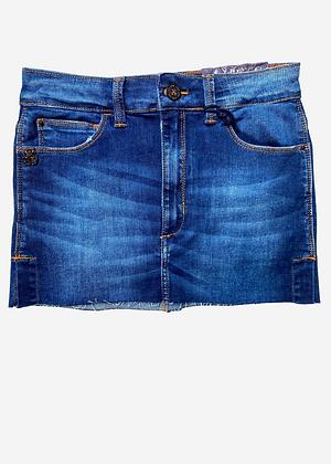 Saia jeans curta John John- SA037