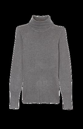 Sweater Feminino. Mescla Claro