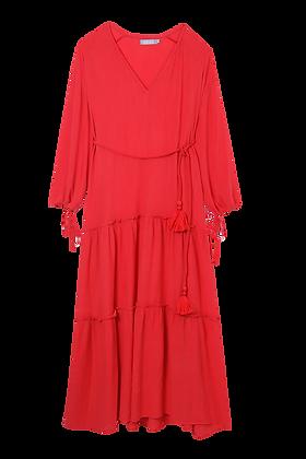 Vestido Goa Vermelho Vermelho