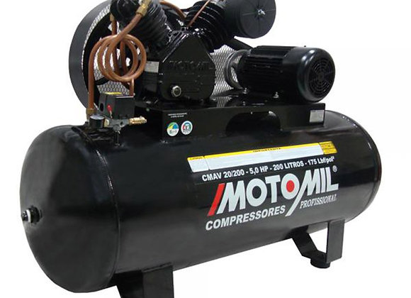MOTOMIL CMAV 20/200 - 5,0 HP 200 LITROS - 175 LBF/pol²