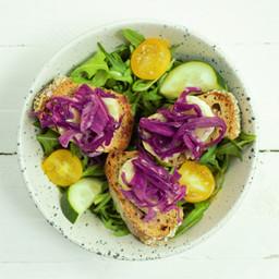 Salade à la Choucroute Rouge
