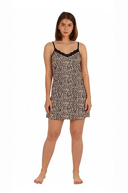 שמלת פיג׳מה מנומרת