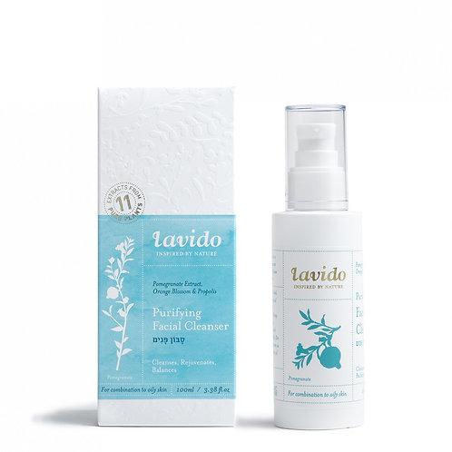 lavido סבון פנים לעור מעורב עד שמן