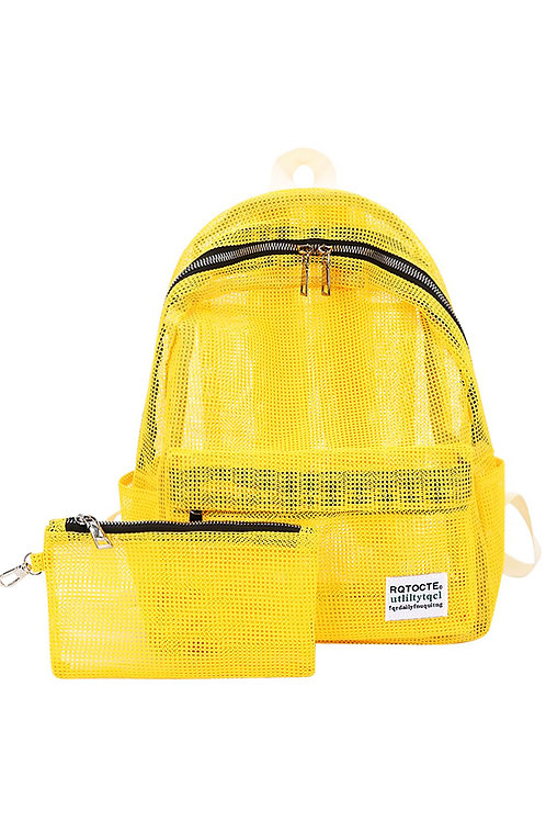 תיק גב - רשת צהוב