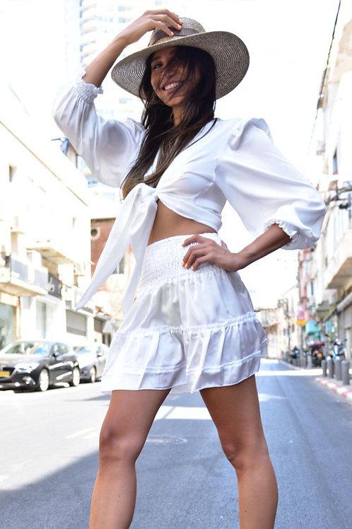 חליפת מעצבים טופ וחצאית