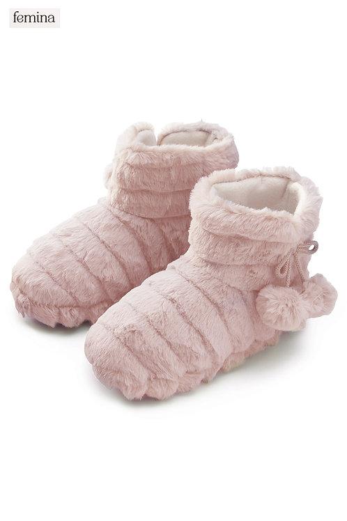 נעלי בית מגף פרווה - femina
