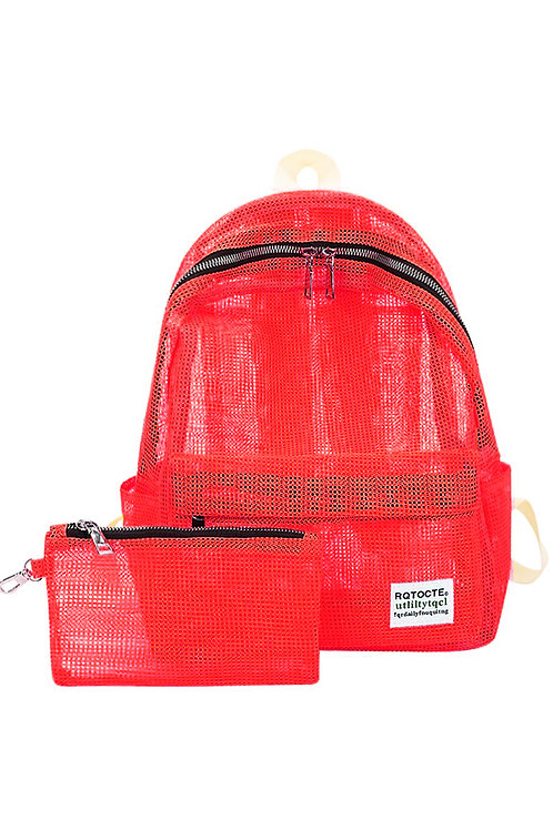 תיק גב - רשת אדום