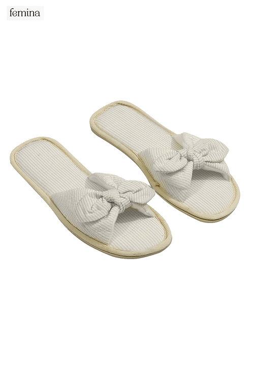 נעלי בית פפיון פסים - femina
