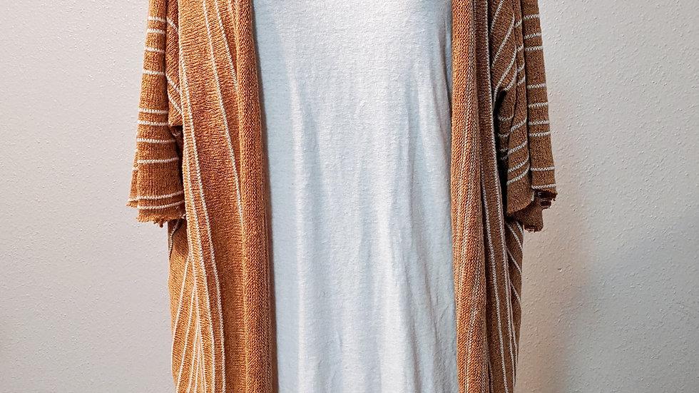 Caramel Stripes Cardigan