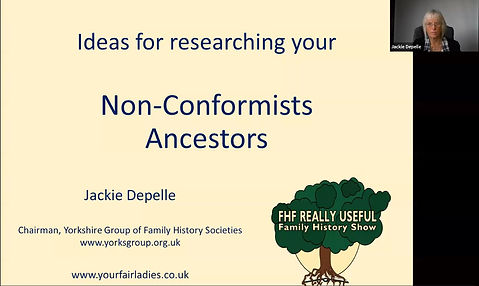 """Really Useful Family History Show """"Non-Conformists"""" Family History"""