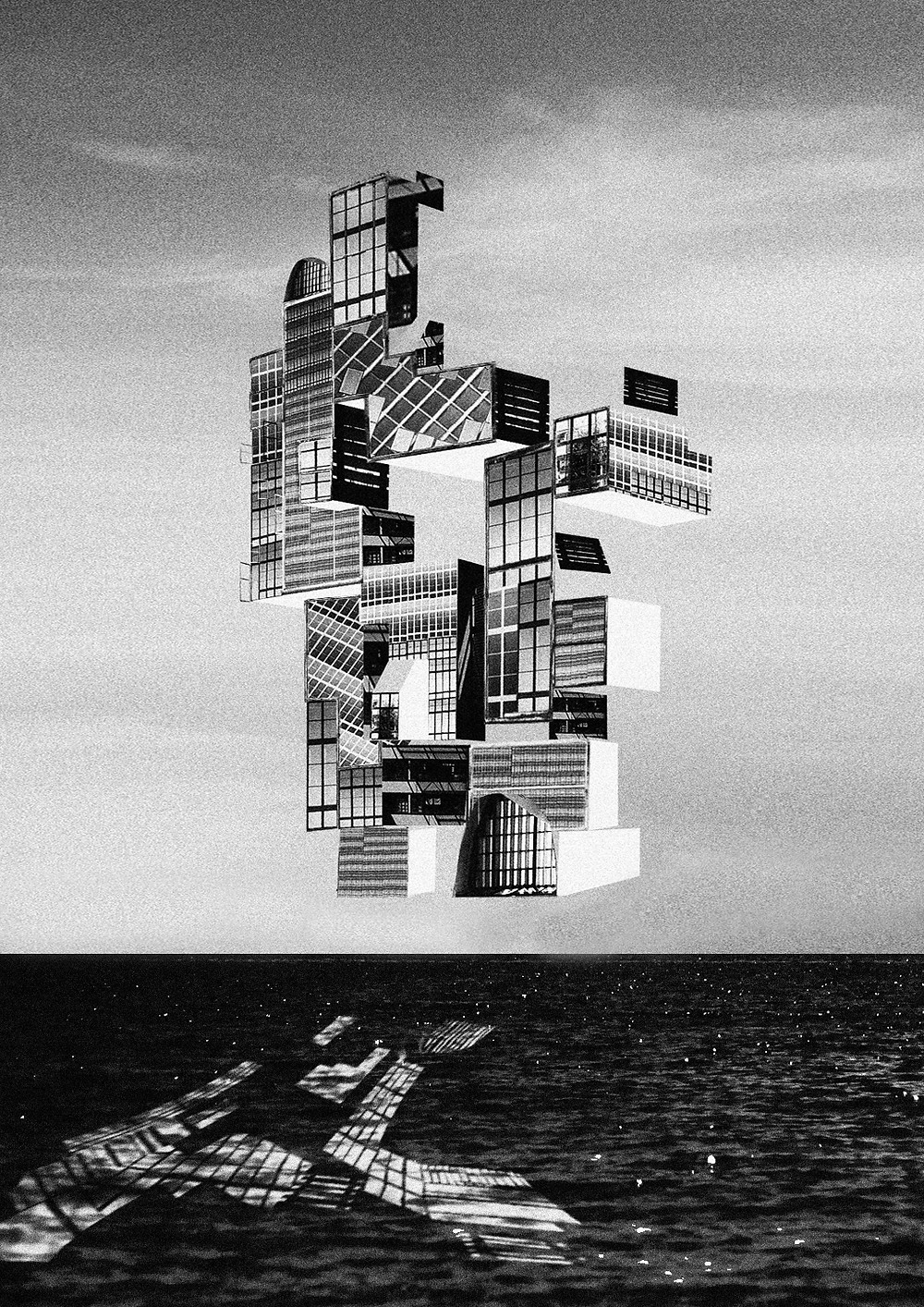 'A Floating Home'. 594mm x 841mm. Print on paper.