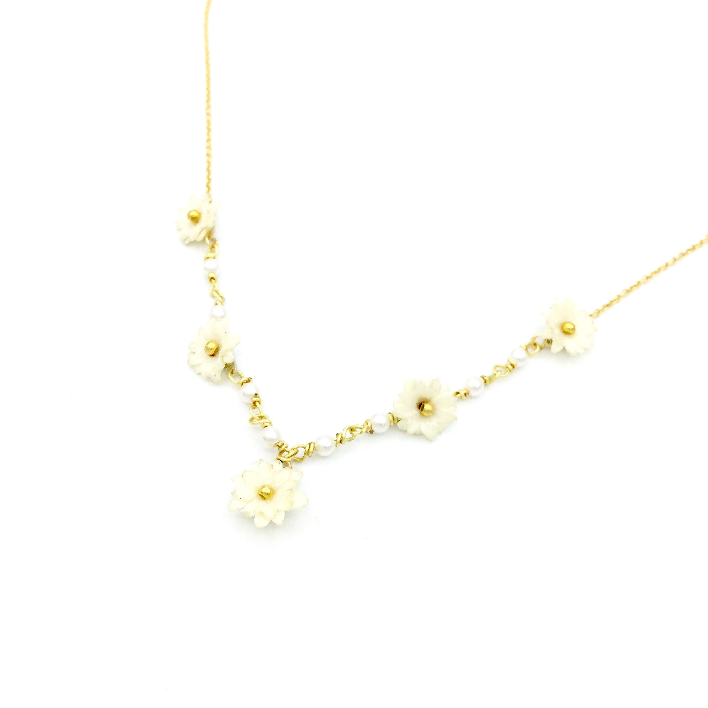product moon plated bluebillie necklace gold small
