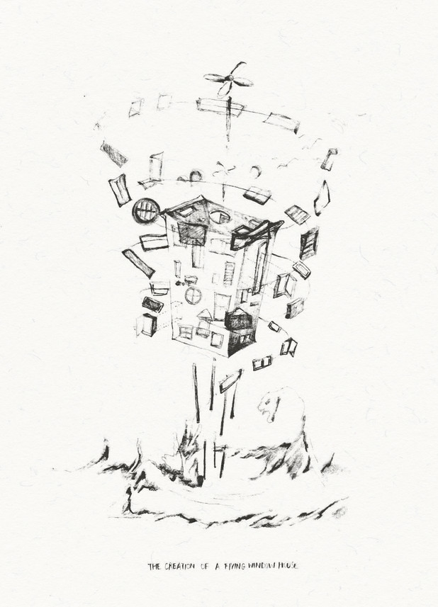 Conceptual Sketches of A Gear Window House