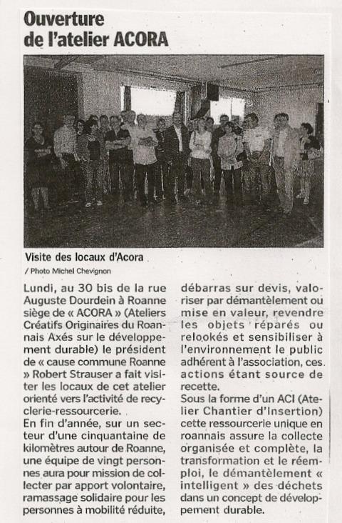 Le Progrès, 01 Octobre 2009