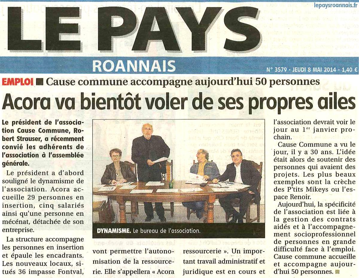Le Pays Roannais, 8 Mai 2014