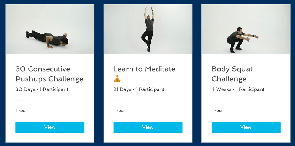 Fitness Challenges Online