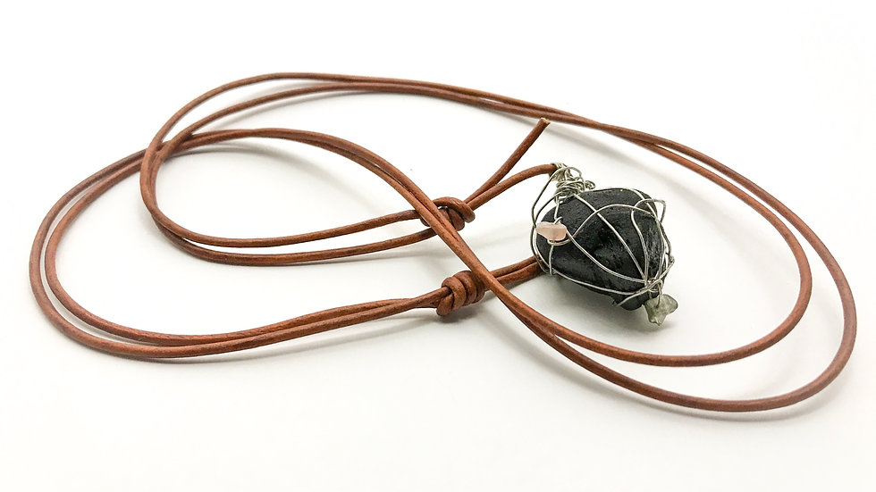 Wire-wrapped Driftwood Pendant
