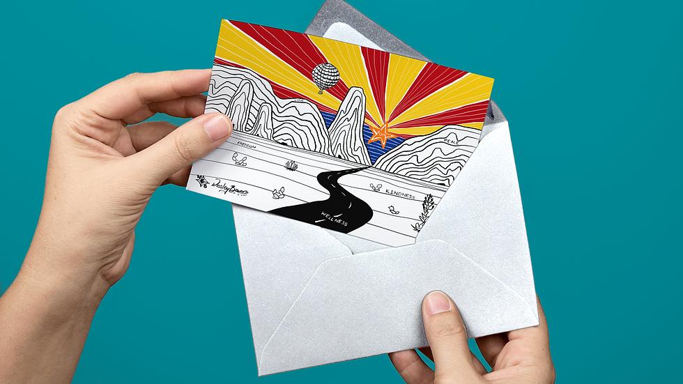 Desert Arizona Scene Greeting Card