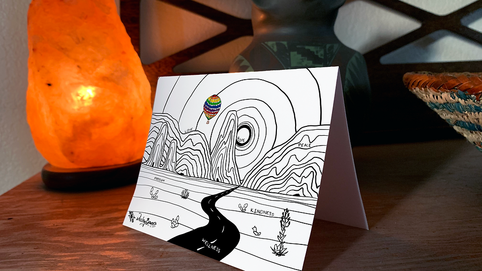 Desert Daytime Scene Greeting Card