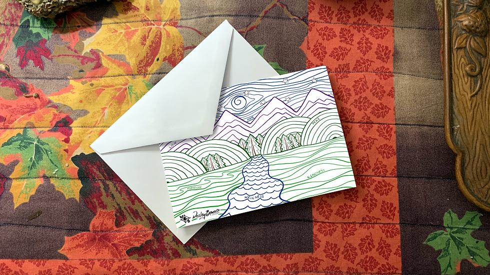 Mountain Nighttime Scene Greeting Card