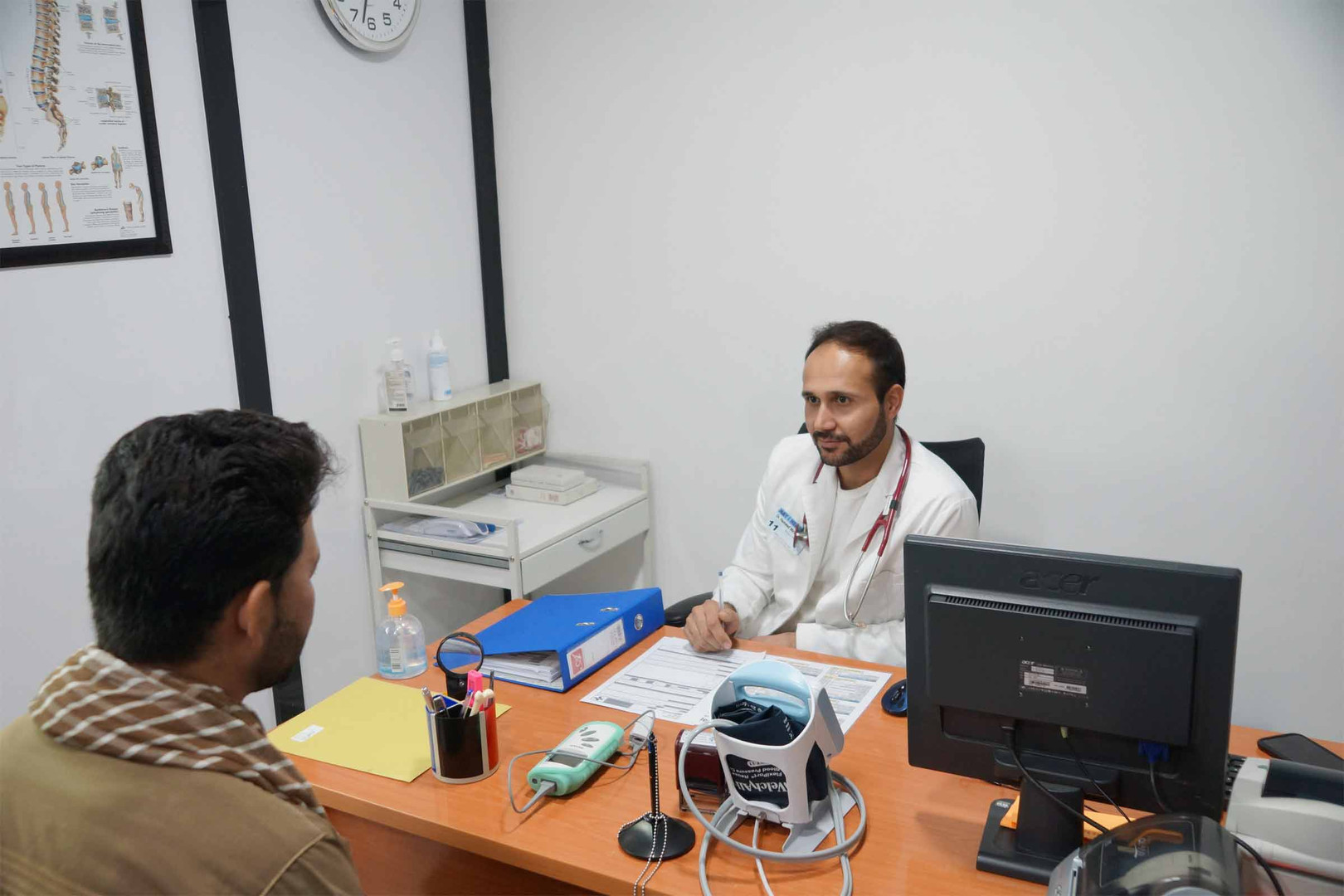 Patient consultation with Dr. Hameed