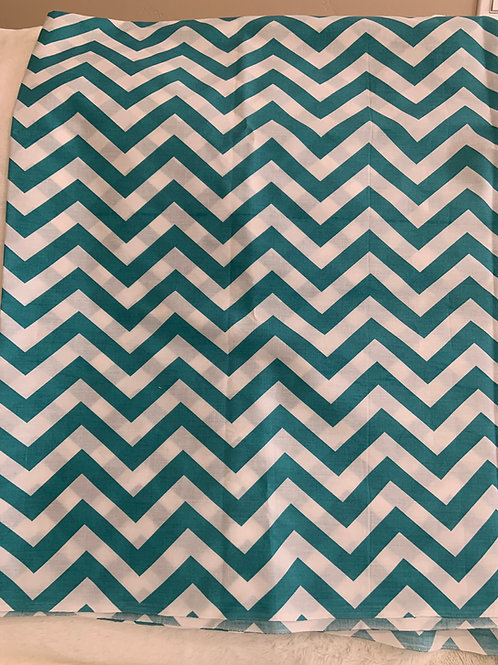 Teal Chevron with Mesh (hood included)