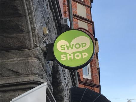 SWOP SHOPs cirkulära skylt