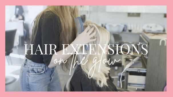 On The Glow | Come To The Salon With Me | Hand Tied Extension Process, Install and FAQ's!