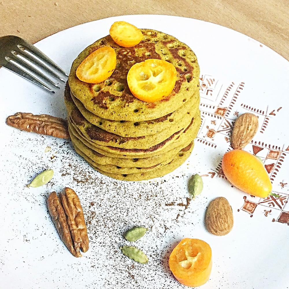 Pancakes d'automne à la courge et épices