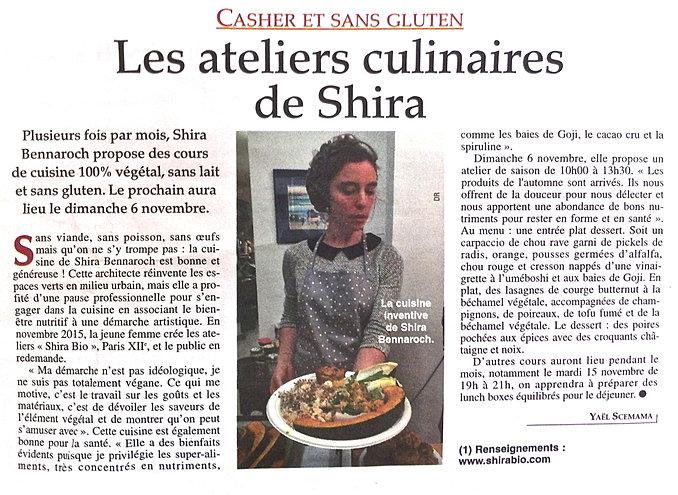 shirabio/témoignages - Cours De Cuisine Cacher