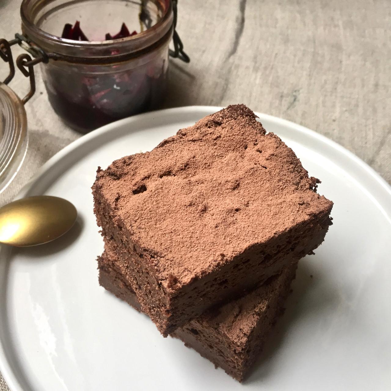 Brownie au betteraves suries