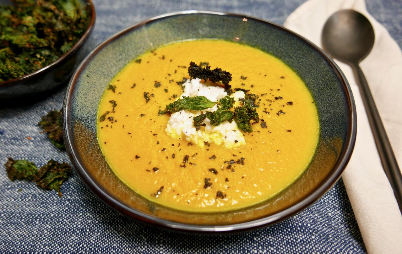Velouté céleri carottes butternut