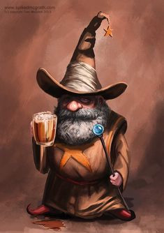 Hubby vs. Wifey Writing Prompt #8: A Wizened Old Man with a Beer and Staff