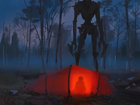 Typecast Prompt #24: A Towering Creature and a Red Tent