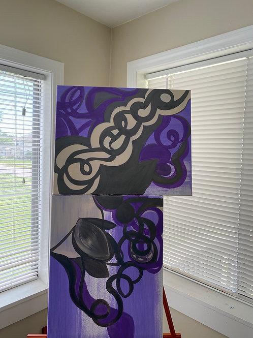 Purple peace (2piece set)