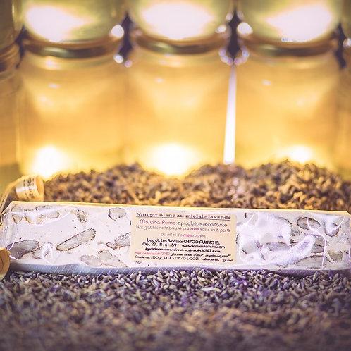 Nougat blanc au miel de lavande et amandes de Valensole