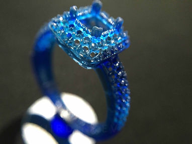 Castable resin jewelry