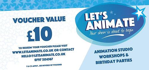 Let's Animate - Gift Voucher