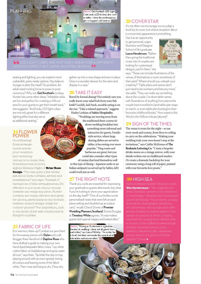 The oysterman featured in Scottish wedding WOWs