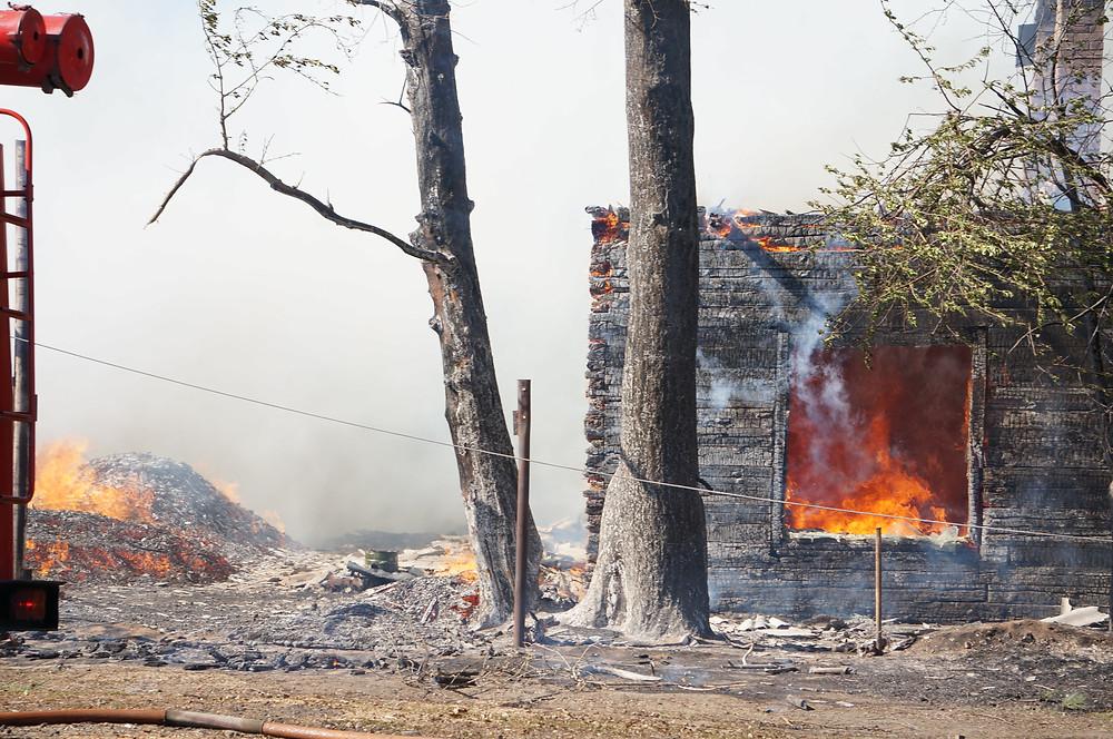 Пожар на ул. Дорожной г. Асино
