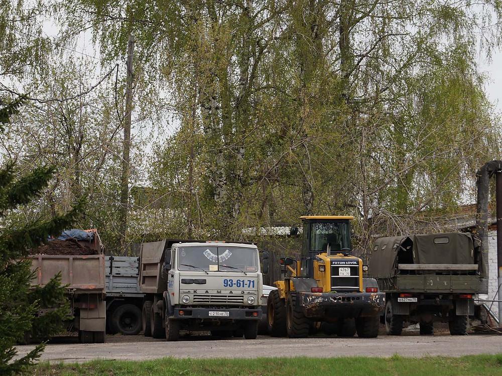Задержанный транспорт на стоянке ГОВД