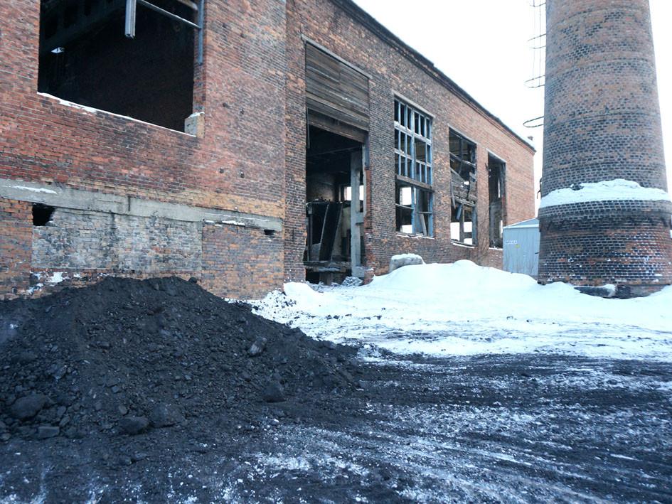 Суточный запас угля в котельной «Дружба»