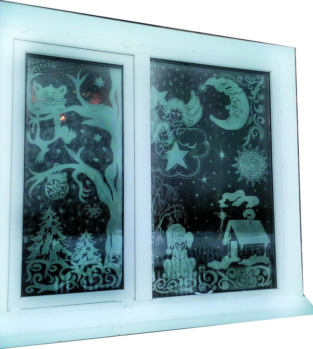 Новогоднее окно Марины Трусовой