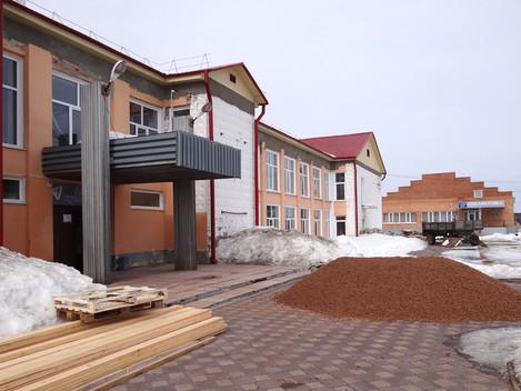 Начался ремонт в Новокусковском Доме культуры