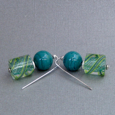 Lucy's Zanfirico in Turquoise and Green -$25