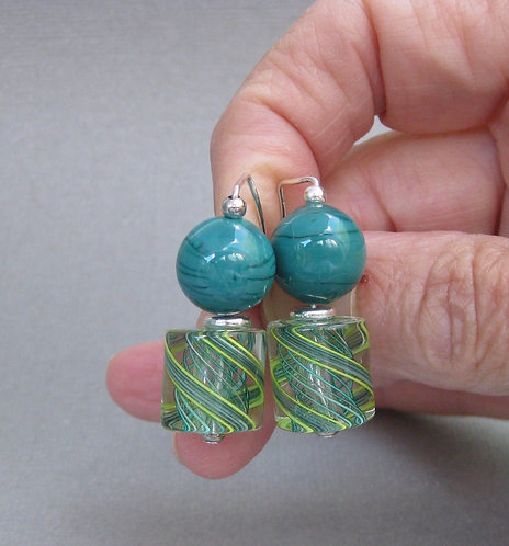 Lucy's Zanfirico in Turquoise and Green