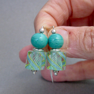 Lucy's Zanfirico in Turquoise and Yellow -$25