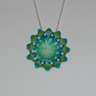 Blue and Green Sundial - $69