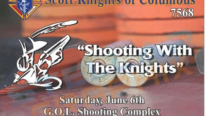 """Scott Knights of Columbus are hosting """"Shooting With The Knights"""" on June 6th."""