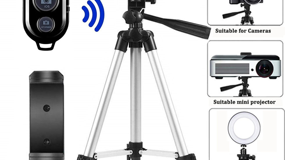 Tripod with Mount for Smartphone & SLR with Bluetooth Shutter Release